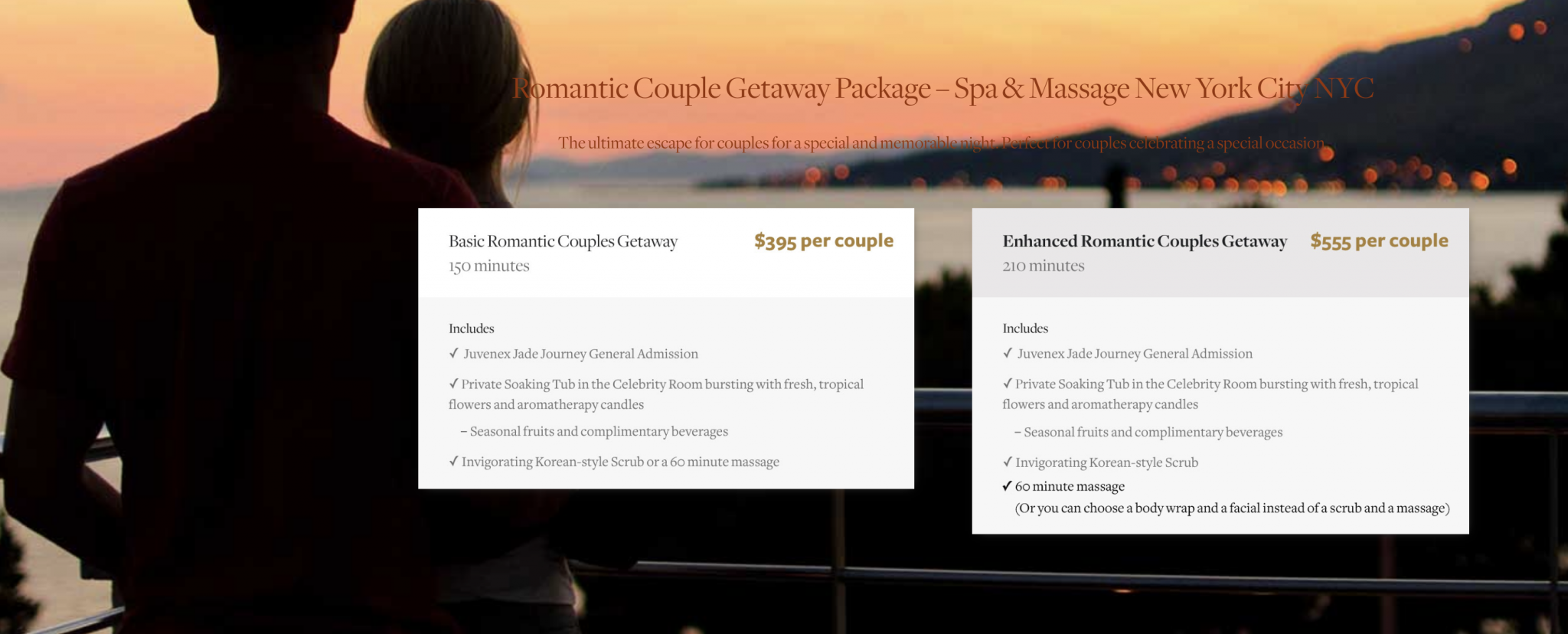 Couple massage spa in new york nyc day spa near me in for Spa treatment near me