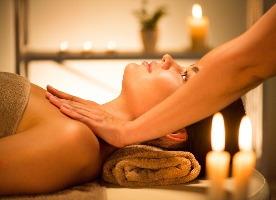 woman enjoying spa salon and massage